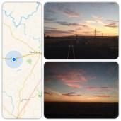 Sunset outside of Spokane, WA