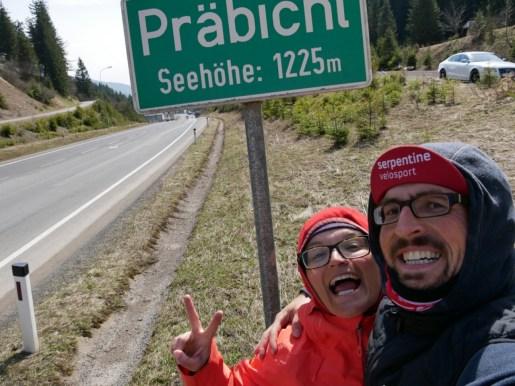 Der höchste Pass bis Bulgarien, der Präbichl, 1225m.