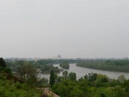 Blick auf Donau und Sava.