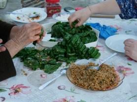 Making of sarma.