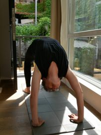 Yoga am Morgen.