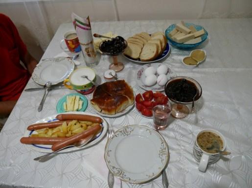 Frühstück in Georgien.