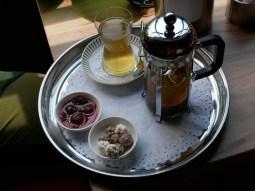 Tea mit Marmelade.// Tea with marmelade.