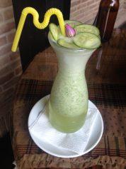 Cucumber shake.// Gurkenshake.