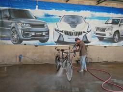 First wash after 8000 km.// Erste Wäsche nach 8000 km.