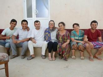 Hassan, Papa, Antonia, Mama, Tante, Samer.