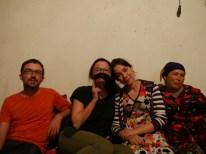 Daniel, Antonia with a moustache, Charosxon with beautiful hair, Rano.// Daniel, Antonia mit Bart, Charosxon mit wunderschönem Haar, Rano.