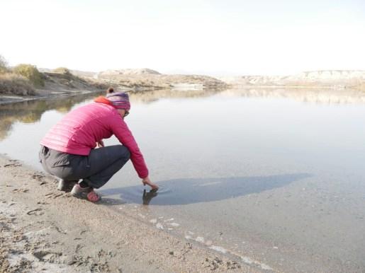 Salzsee - der einzige neben dem Toten Meer in Israel. Schmeckt echt wie Tränen.// Salt lake, the only one besides the Dead Sea in Israel. Tastes like tears.