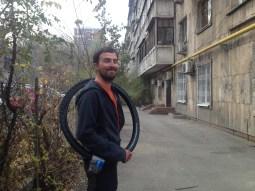 Almaty. A real Schwalbe tire!