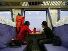 """Hard seat"" class in China.// ""Hard seat"" Klasse in China."