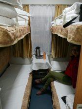 Die Königsklasse des chinesischen Zugsystems, der Soft sleeper. Sehr bequem. // The best you can get in chinese train system: soft sleeper, very comfortable!
