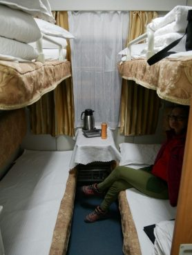 Die Königsklasse des chinesischen Zugsystems, der Soft sleeper. Sehr bequem. // The best you can get in chinese train system: soft sleeper, very comfortable!