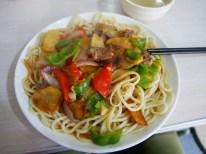 Noodles Hui style.// Nudeln nach Hui Art.