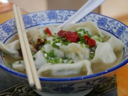 Jaouzi - the chinese way of filled pasta squares.// Chinesische Maultaschen.