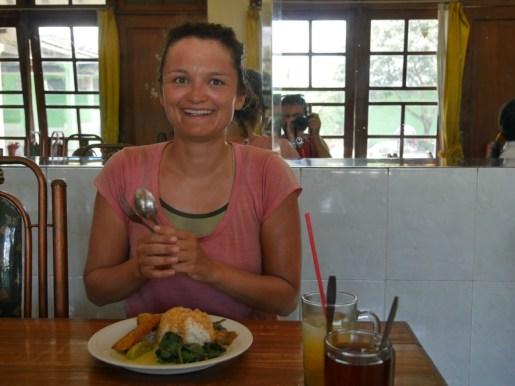 Last lunch before arriving.// Letztes Mittagessen vor der Ankunft.