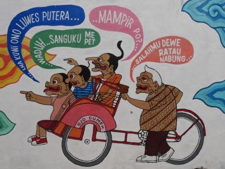 Street art Yogya,