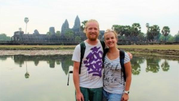 Mark, Paula, Angkor Wat Cambodja