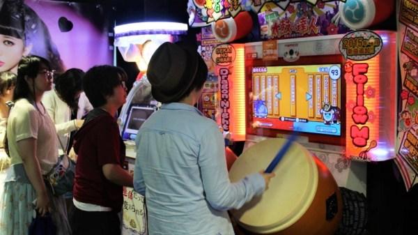 Akihabara kids gaming in arcade