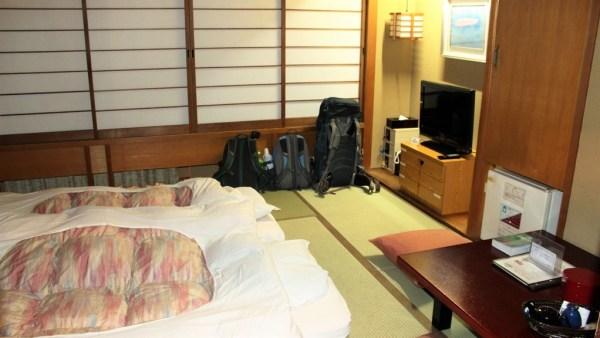 Sleeping in a ryokan
