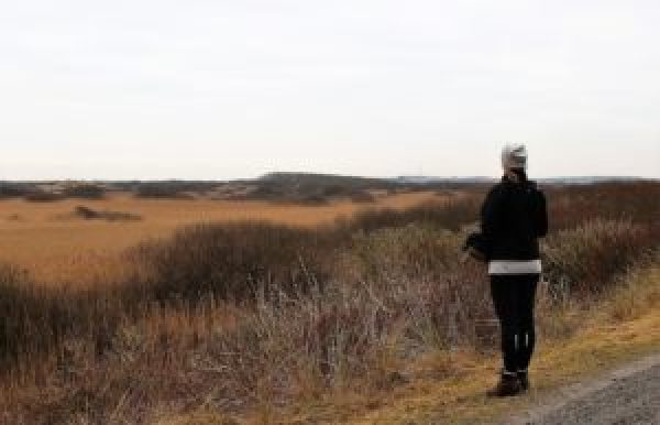 Paula op Ameland in de winter