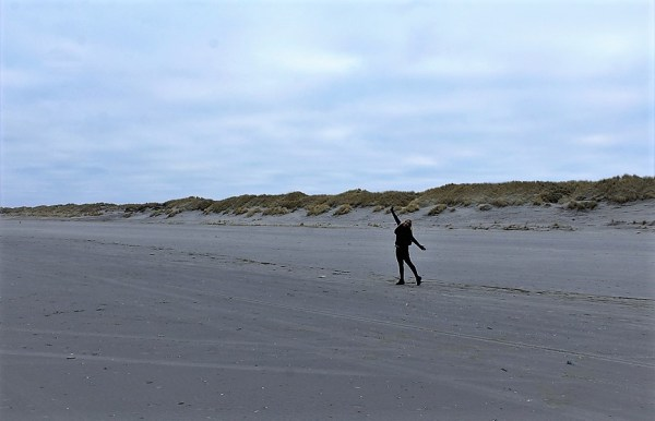 Ameland in de winter met Grietje
