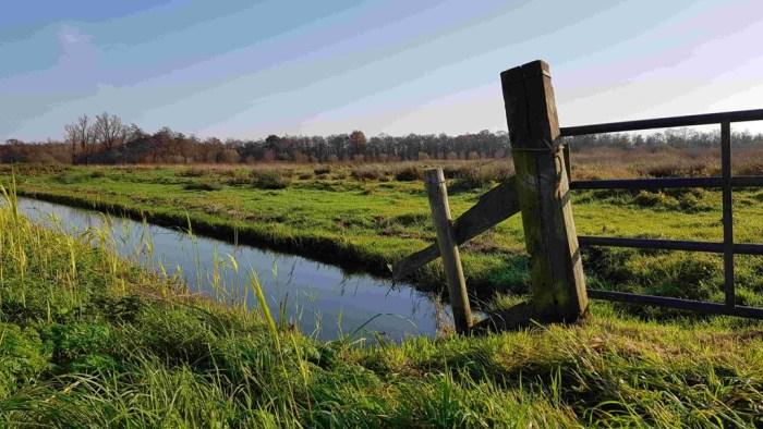 Trekvogelpad etappe 8 Weesp naar Hilversum hek en sloot