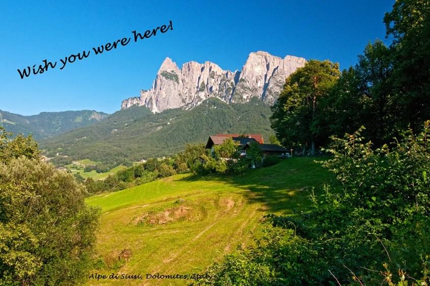 The Schlern/Sciliar of the Alpe di Siusi region of the Dolomites