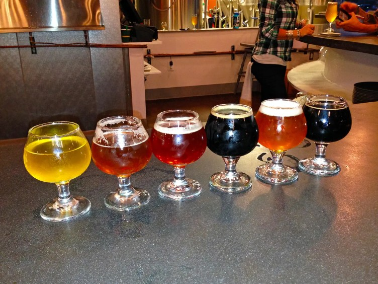Beer tasting at Cannonball Creek Brewery