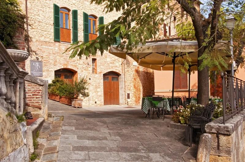 Godimento di Vino terrace, Montepulciano, Italy