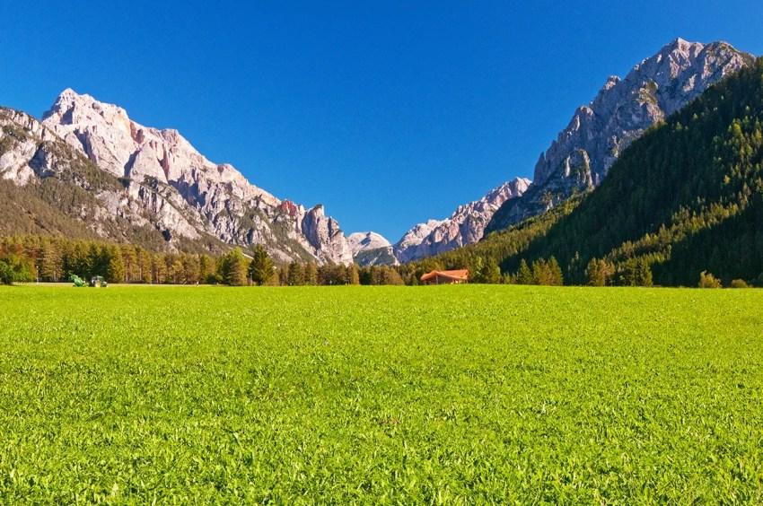 Dolomiti of the Senes/Fanes area near San Viglio di Marebbe, Italy