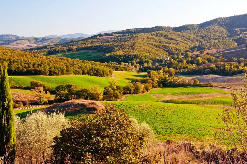 Tuscan hills of the Val d'Elsa, Italy