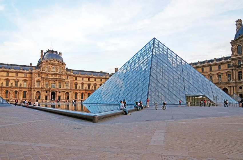 The Palais du Louvre and the  Musée du Louvre, Paris