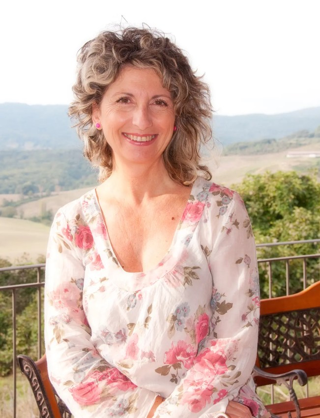 The lovely Gabriella, owner of  Antico Borgo di Tignano, near Casole d'Elsa & Volterra, Italy