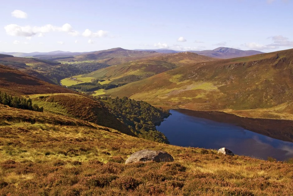 Wicklow Mountains along the Wicklow Way hiking trail, Ireland