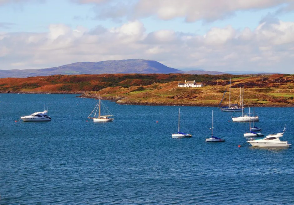 Sailboats in the harbor of Baltimore, County Cork, Ireland