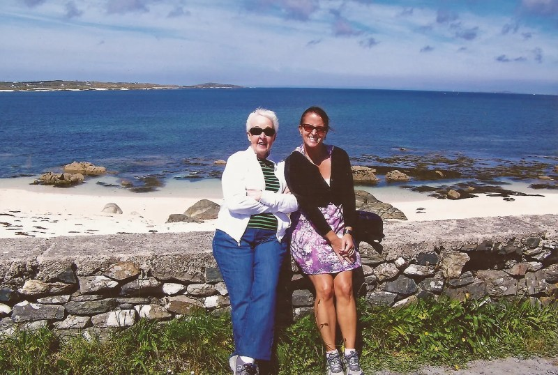 Mom and I in Connemara, County Galway