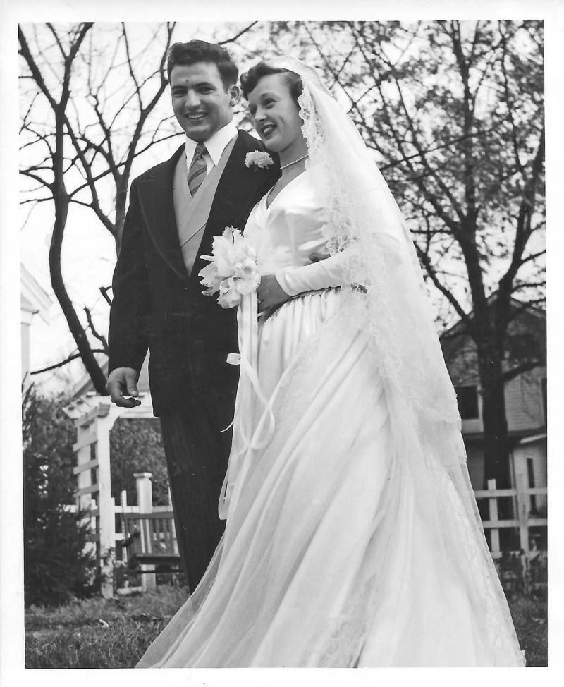 My folks on their wedding day, 1953