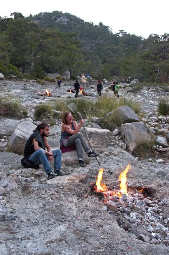 Flames of Chimaera, burning rock, near ǂirali, Turkey