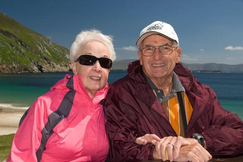 Mom and Dad on Achill Island near Westport, County Mayo