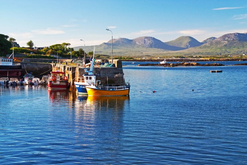 Roundstone harbor, Connemara, County Galway