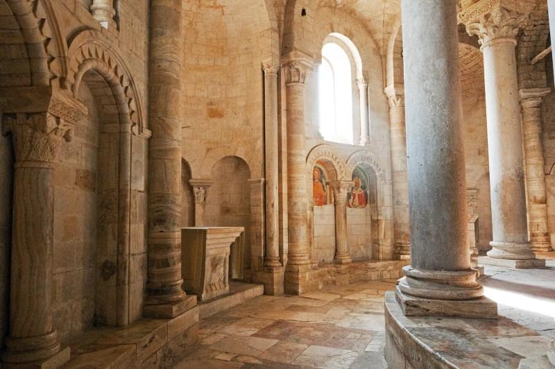 Inside of Sant' Antimo, near Montalcino, Italy