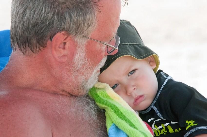 Hudson cuddling with Boppa