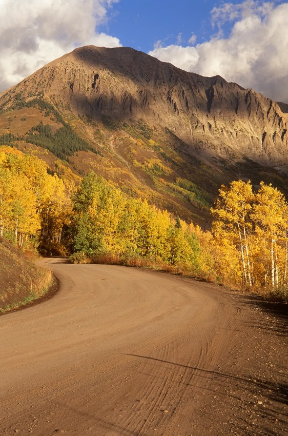 Gothic Mountain in autumn, Crested Butte, Colorado, USA