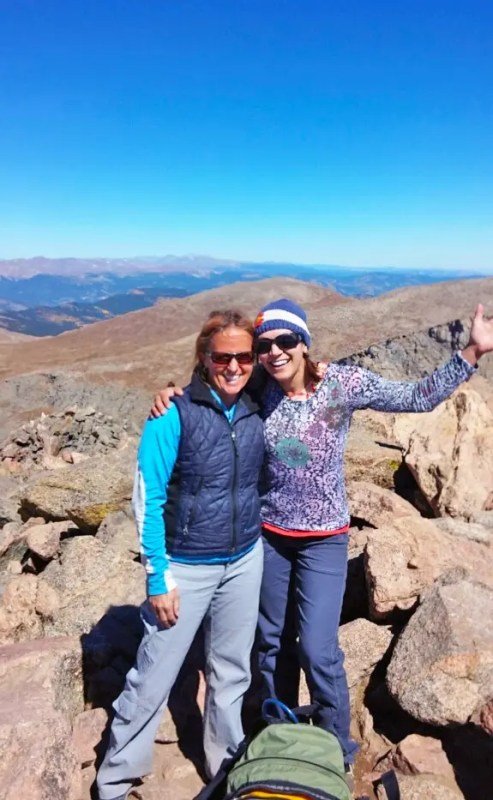 Julie and I on the summit of Mt Bierstadt, Colorado