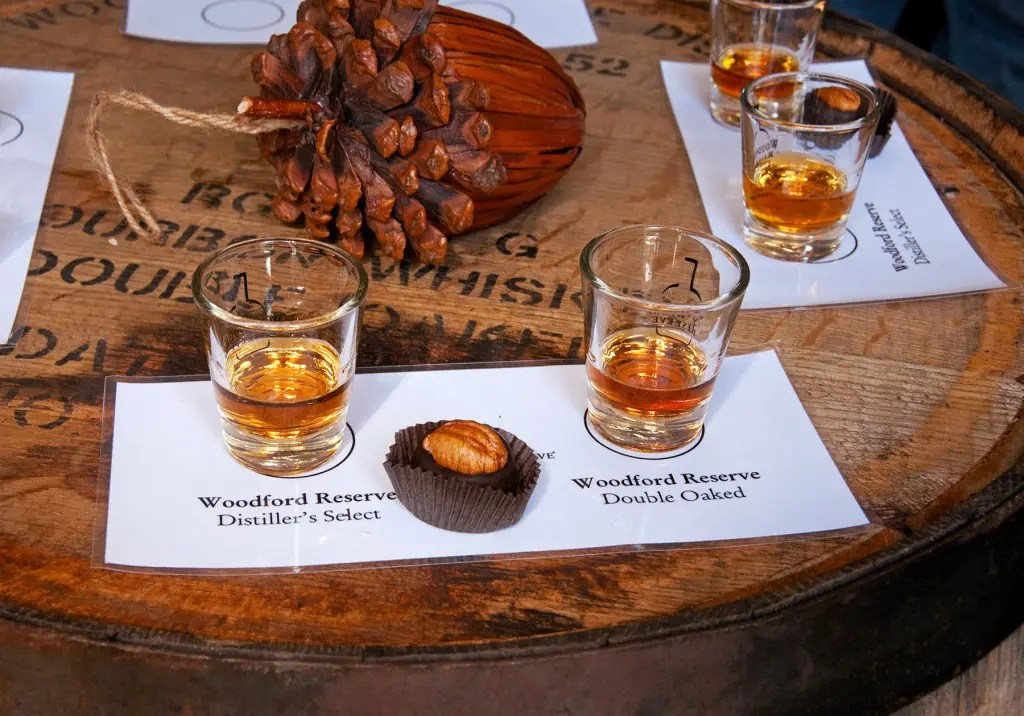 Our bourbon tastes at Woodford Reserve