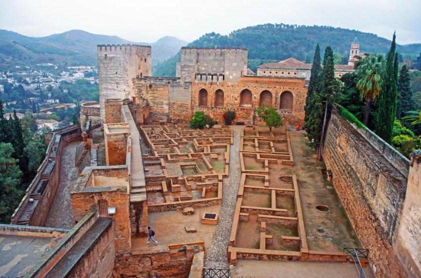 The Alcazar or fortress of the Alhambra in Granada, Spain