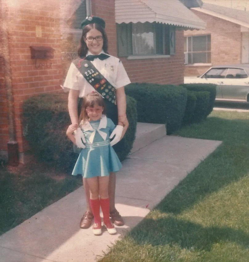 My sister and I way back when (about 1970)