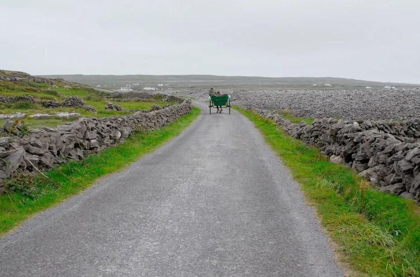 Pony trap driver on Inishmór, Aran Islands, Ireland