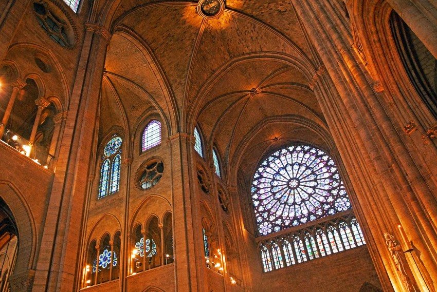 Interior of Notre Dame, Paris, France