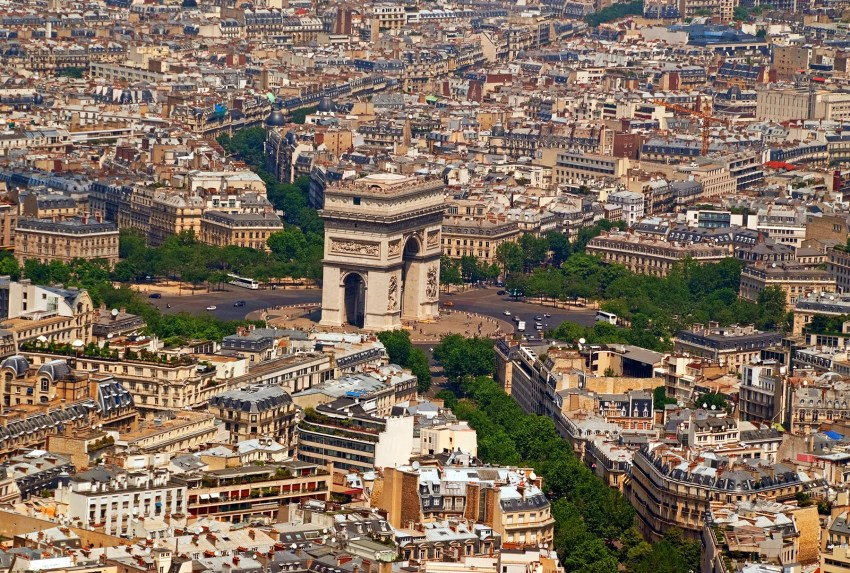 From the top of the Eiffel Tower, Paris, France